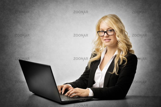 woman working with glasses