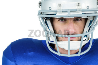 Portrait of stern American football player