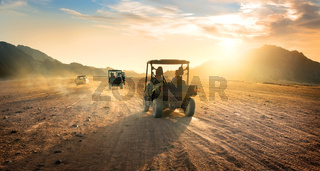 Buggies in desert
