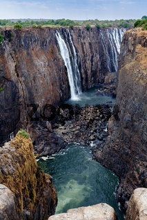 view of Victoria falls canyon
