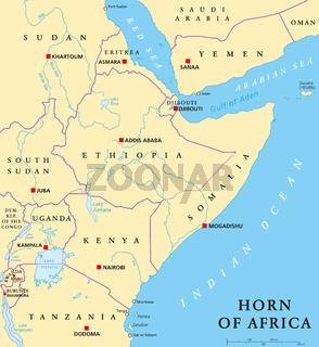 Horn von Afrika Landkarte