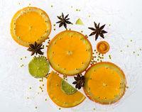 Orangenscheiben Weihnachtsdekoration