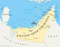 Vereinigte Arabische Emirate politische Landkarte