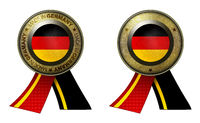 Set of 2 Germany seals Made in message and blank
