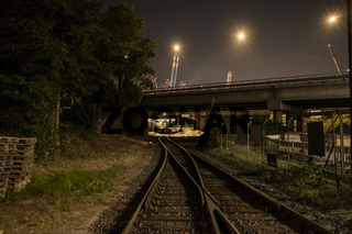 Gleise der Hafenbahn in Waltershof, Hamburg