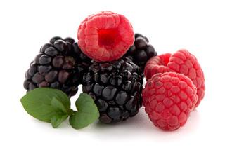 Raspberry with blackberry
