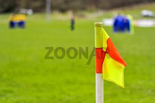 Fußballfeld mit Eckfahne
