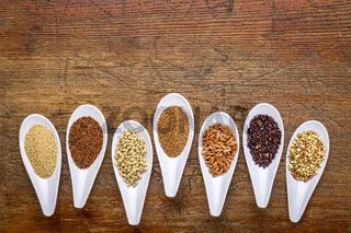 seven healthy, gluten free grains