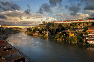 Sunset at Douro River in Portugal