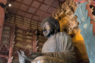 World largest bronze buddha statue in Todai-ji temple, Japan