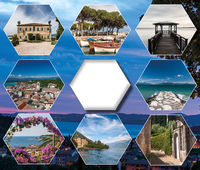 The collage from views of  Lake Garda