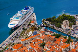 Cruise liner in Kotor Port - Montenegro