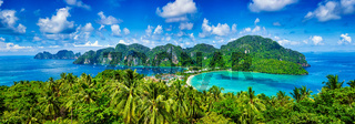 Panorama of tropical islands