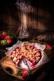 rhubarb chocolate tarte