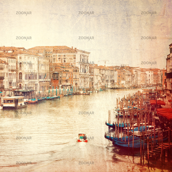 Vintage photo of Grand Canal in Venice