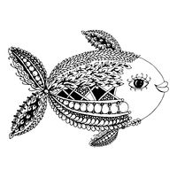 Ornate fish, zentangle style for your design