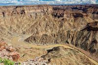 the fish river canyon in the south of namibia
