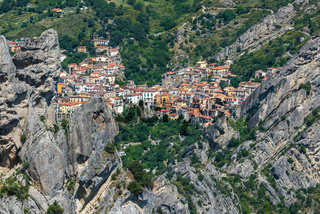 Castelmezzano in Basilicata, one of the most beautiful village in Italy