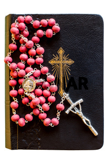 The bible with rosary