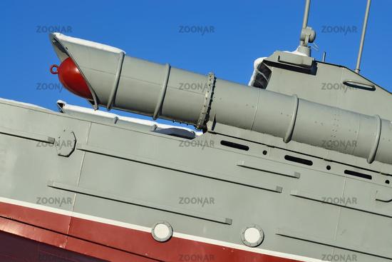 Torpedo-Boot (Fragment). Denkmal für die Matrosen der Baltischen Flotte. Kaliningrad, Russland