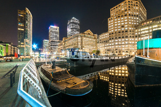 Boats and buildings, West Inda Quay, Docklands, London, United Kingdom