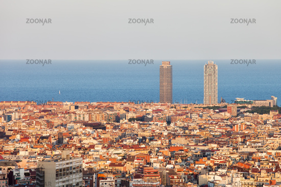 Barcelona Cityscape at Sunset