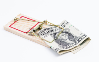 Mausefalle und Dollarschein