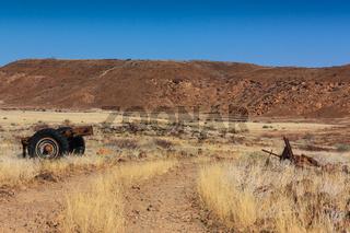 Trailer wreck desert Damaraland