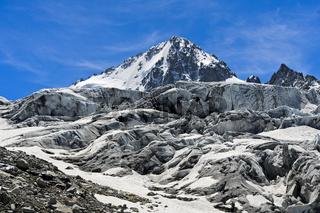Gletscher Glacier du Tour mit Gipfel Aiguille du Chardonnet, Chamonix, Savoyen, Frankreich