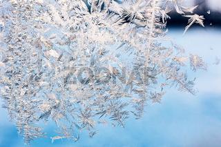 frozen window glass background