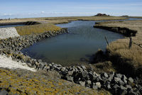 Wasserlauf auf der Hallig Langeness