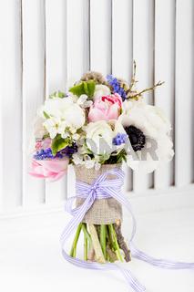 Beautifull, pastel spring bouquet