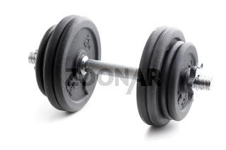 the black dumbbell