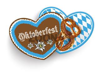 Oktoberfest 2 Hearts Pretzel