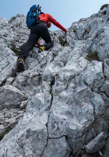 Kletterer im Fels