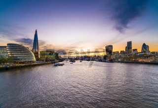 City Hall, More Place, City of London, on River Thames with Shard in background, London, United Kingdom