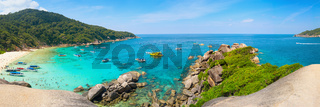 Beautiful Tropical Beach of the Similan Islands in Thailand