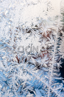 frost pattern on winter window