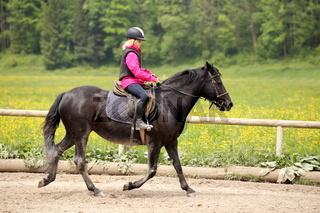 Reitübung mit Pony