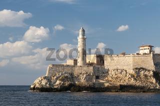 Havannas Leuchtturm an Hafeneinfahrt