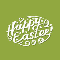 Happy Easter, calligraphy