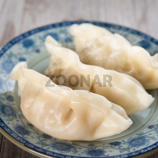 Chinese cooking fresh dumplings