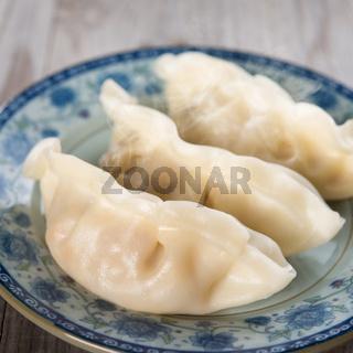 Chinese cooking fresh dumplings