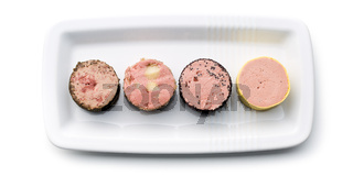 meat pate with different flavors