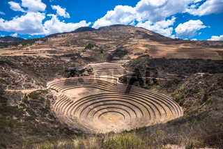 Moray, an archaeological site near Cusco, Peru