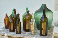 traditional wine and liquor bottles
