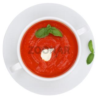 Tomatensuppe Tomaten Suppe Tomate Gericht Freisteller