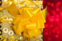 Gift box on sparkles background