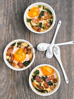 rustic baked potted egg