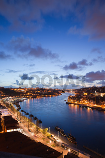 Evening at Douro River in Portugal